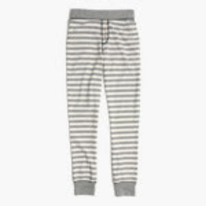 New Madewell striped pajama leggings, size L
